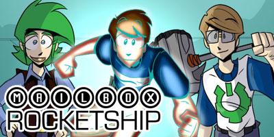 Mailbox Rocketship - sci fi shenanigans space comic!