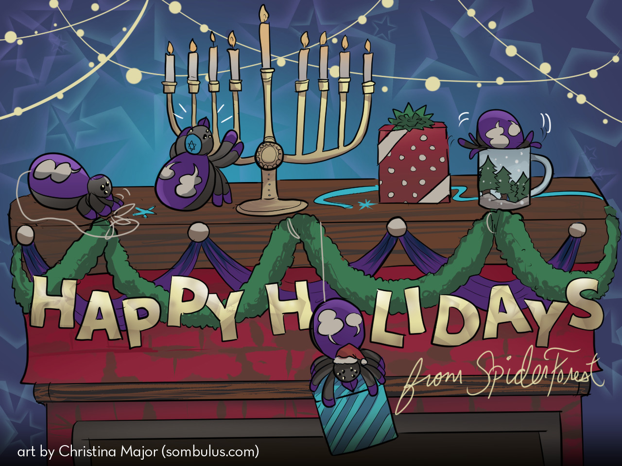 Happy Holidays! SpiderForest News for December!