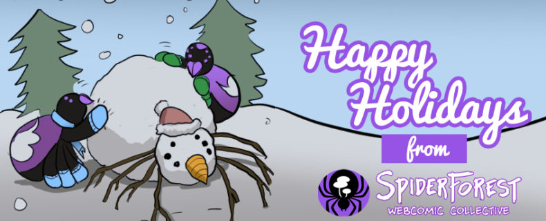 Wintery December Greetings from SpiderForest!